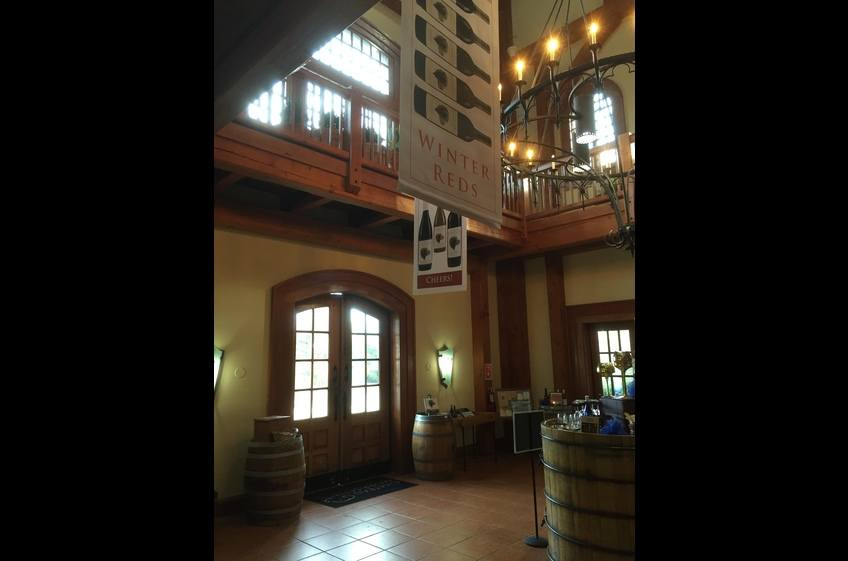 Inside Chateau Morrisette - European style winery